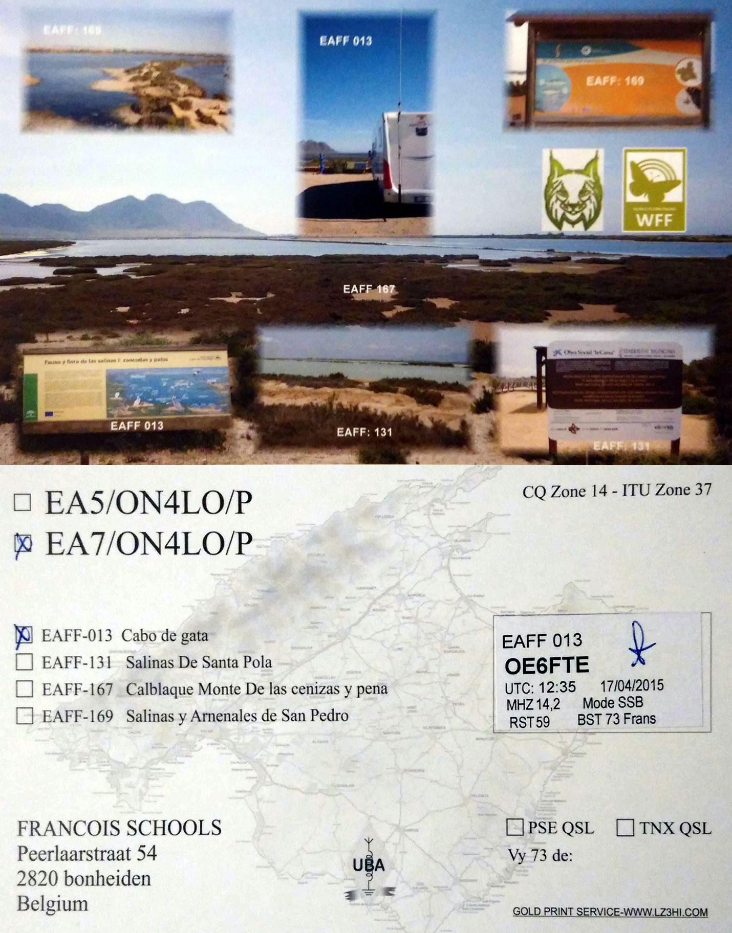 EA7/ON4LO/P