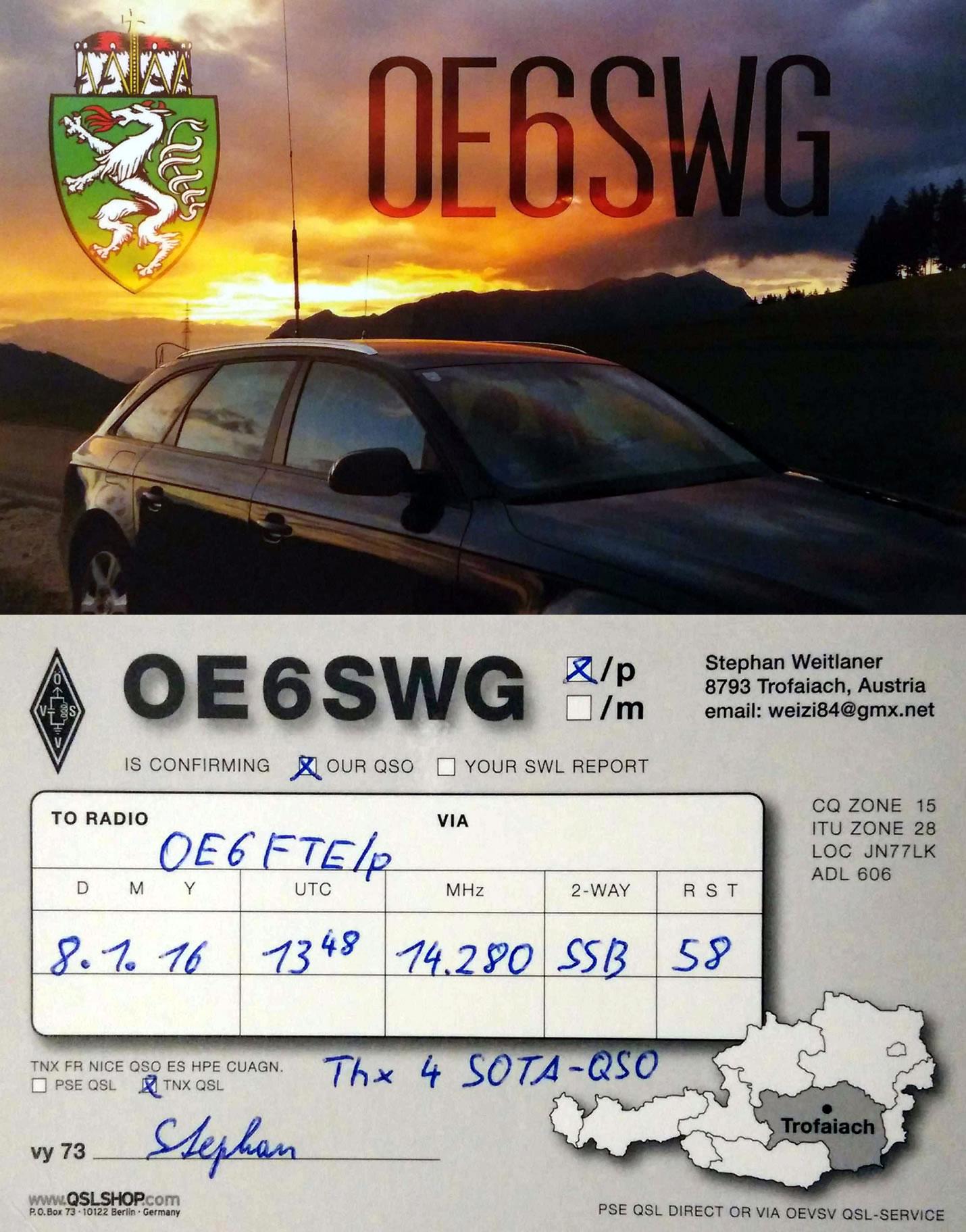 OE6SWG/P