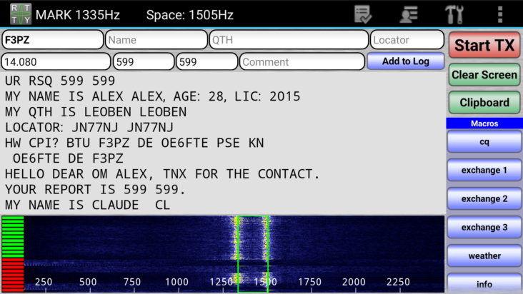 RTTY with WolphiLink interface