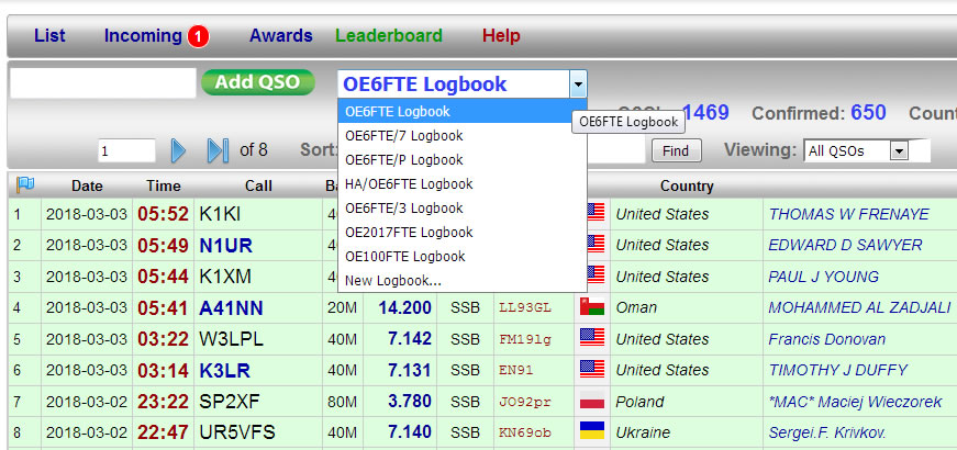 Creating new QRZ.com Logbook